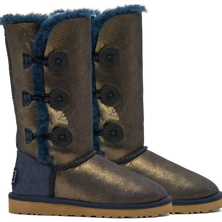 UGG Bailey Button Triplet Nappa Blue Gold