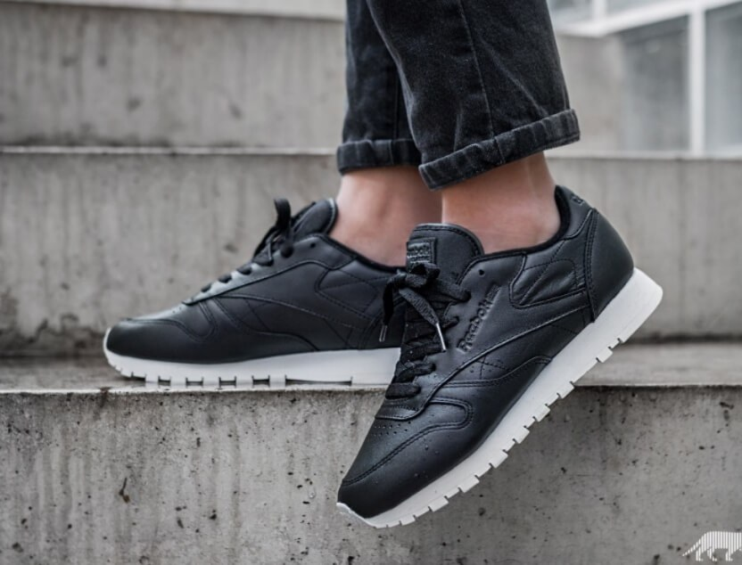 Кроссовки Reebok Classic Leather *Pearlized* (Black / White)