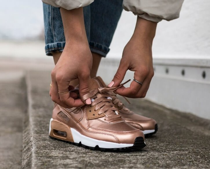Кроссовки Nike Air Max 90 SE Leather GS