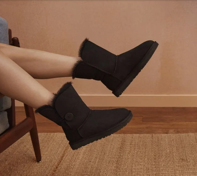купить UGG Bailey Button черные