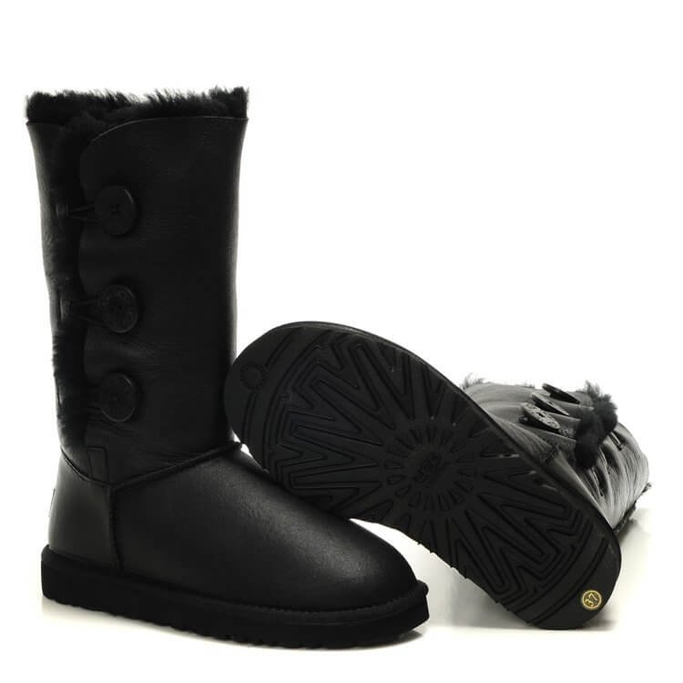 купить UGG Bailey Button Triplet (черные)