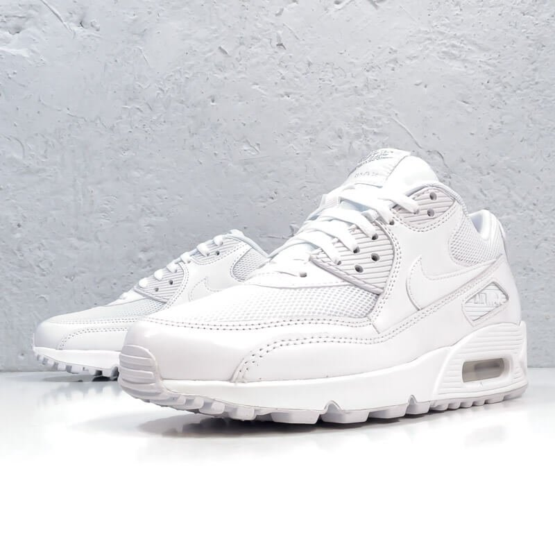 Кроссовки Nke Air Max 90 Premium White/Metallic Silver