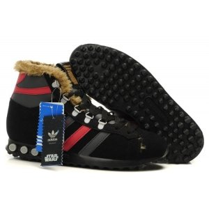 "Кроссовки Adidas Jogging Hi S.W. Star Wars Chewbacca ""Black/Red/Grey"""
