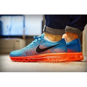 "Кроссовки Nike Air Max Flyknit 2015 ""Blue/Orange"""