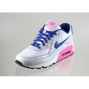 "Кроссовки Nike Air Max 90 ""White/Hyper Blue-Digital Pink"""