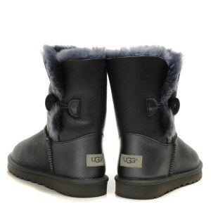 "UGG BAILEY BUTTON II BOOT LEATHER ""GREY"" Арт. 1523"