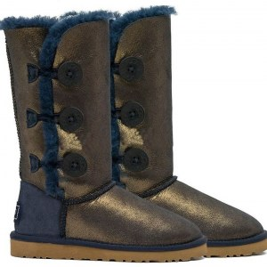 "UGG BAILEY BUTTON TRIPLET II BOOT ""NAVY/GOLD"" Арт. 0578"