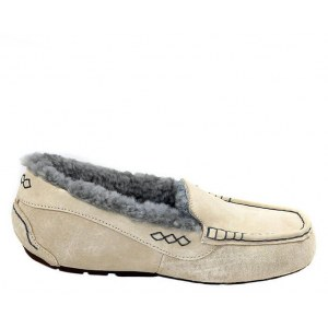 "UGG ANSLEY SLIPPER ""SAND GREY"""