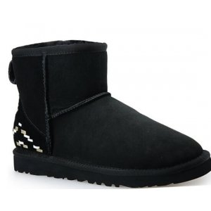 "UGG CLASSIC MINI II BOOT ""BLACK ORNAMENT"" Арт. 1526"