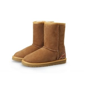 "UGG CLASSIC SHORT II BOOT ""CHESTNUT ORNAMENT"" Арт. 0935"