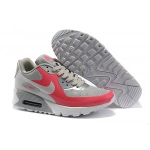 Nike Air Max 90 Hyperfuse (серо-розовые)