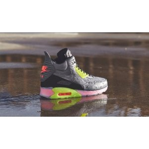 "Кроссовки Nike Air Max 90 SneakerBoot Ice ""Dark Grey/Black/Force Green/Hyper"" Арт. 0623"