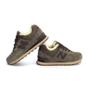 "Кроссовки New Balance 574 Winter ""Haki"" С МЕХОМ Арт. 1647"