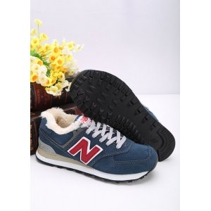 "Кроссовки New Balance 574 Winter ""Blue/Red"" С МЕХОМ"