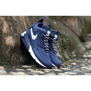 "Кроссовки Nike Air Max 90 SneakerBoot Winter ""Blue/White"""