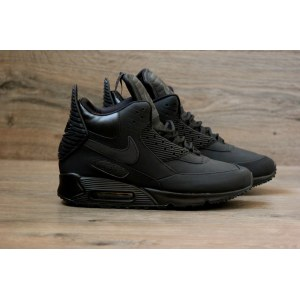 "Кроссовки Nike Air Max 90 SneakerBoot Winter ""Triple Black"" Арт. 0621"