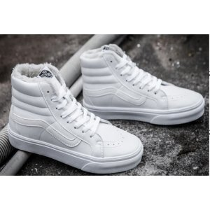 "Зимние кеды Vans High Tops Casual Velvet ""White"" С МЕХОМ"