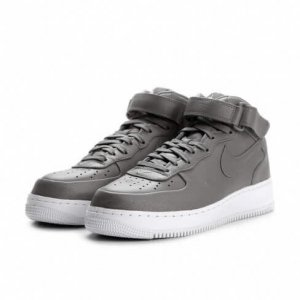 "Кроссовки NikeLab Air Force 1 Mid ""Light Charcoal/White"" Арт. 0974"