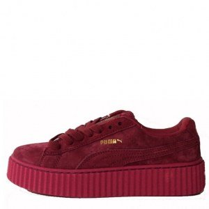 "Кроссовки Puma Suede Creeper x Rihanna ""Bordo"" Арт. 0986"
