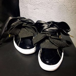 "Кроссовки Puma Basket Heart Patent ""Black"" Арт. 1436"