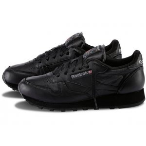 "Кроссовки Reebok Classic Leather ""All Black"" Арт. 0012"
