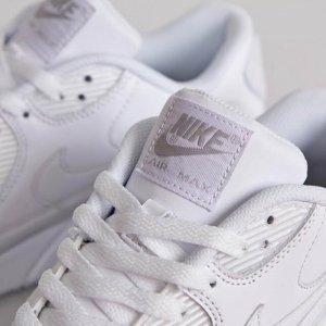 "Кроссовки Nike Air Max 90 Leather ""All White"""