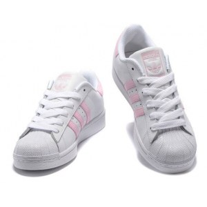 "Кроссовки Adidas Superstar ""White/Pink"" Арт. 1482"