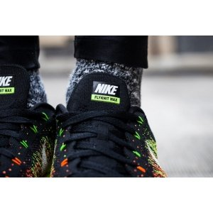 "Кроссовки Nike Air Max Flyknit ""Black/Green/Orange"" Арт. 0147"