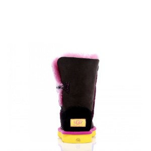 "UGG BAILEY BUTTON NOIR BOOT ""ROSE JAUNE"" Арт. 1586"