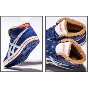 "Кроссовки Asics Mexico Winter ""Blue"" С МЕХОМ Арт. 1601"