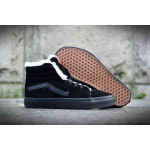 "Зимние кеды Vans Old School Suede ""Black"" С МЕХОМ Арт. 1606"