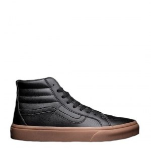 "Кеды Vans Gum Leather Sk8-Hi Classic ""Black"" Арт. 1648"