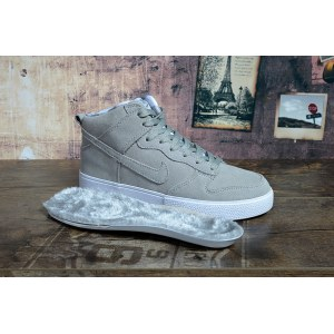 "Кроссовки Nike Dunk Hight ""Grey"" С МЕХОМ Арт. 1662"