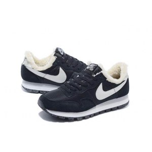 "Кроссовки Nike Internationalist ""Black/Milk White"" С МЕХОМ С МЕХОМ Арт. 1667"