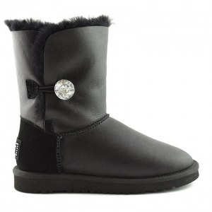 UGG BAILEY BUTTON II BOOT LEATHER BLING