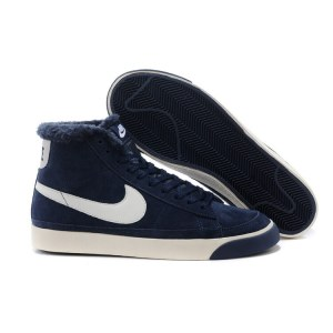 "Кроссовки Nike Dunk Hight ""Navy"" С МЕХОМ Арт. 1753"
