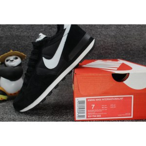 "Кроссовки Nike Internationalist ""Black/White"" С МЕХОМ Арт. 1759"