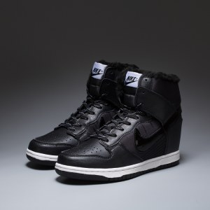 "Сникерсы Nike WMNS Dunk Hight ""Black"" С МЕХОМ Арт. 1766"