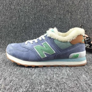 "Кроссовки New Balance Buty 574 Winter ""Purple/Mint"" С МЕХОМ Арт. 1993"