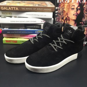 "Кроссовки Adidas Tubular Invader ""Core Black/Vintage White"" Арт. 2019"