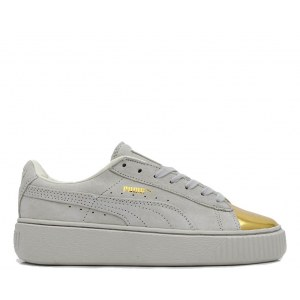 "Кроссовки Puma Suede Plattform ""Gold Toe"" Арт. 1967"
