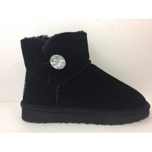 "UGG Classic Mini ""Bling Black"" (Копия) Арт. 2053"