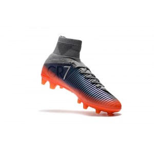 "Футбольные бутсы Nike Mercurial Superfly V CR 7 AG-PRO ""Coll Grey/Metalic Hematit/Wolg Grey"" Арт. 2191"