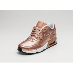 "Кроссовки Nike Air Max 90 SE Leather GS ""Metalic Red Bronze"" Арт. 2215"