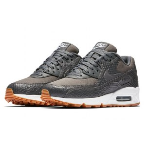 "Кроссовки Nike Air Max 90 Premium ""Dark Grey/Gum Yellow/White"" Арт. 2260"