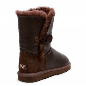 "UGG Bailey Button Leather ""Metalic Chocolate"" Арт. 0363 (Уценка)"