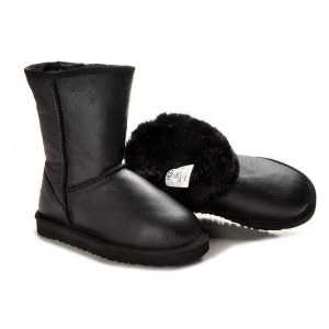 "UGG Classic Short Leather ""Black"" Арт. 0382 (Уценка)"