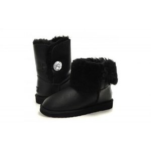 "UGG Bailey Button Bling ""Leather Black"" Арт. 0352 (Уценка)"