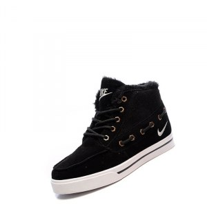 "Кроссовки Nike High Top Fur ""Black"" С МЕХОМ"
