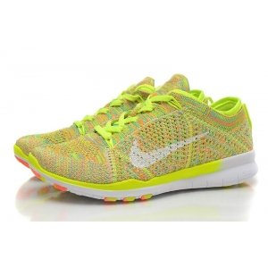 "Кроссовки Nike Free TR Fit Flyknit ""Yellow-Green"" Арт. 0211"